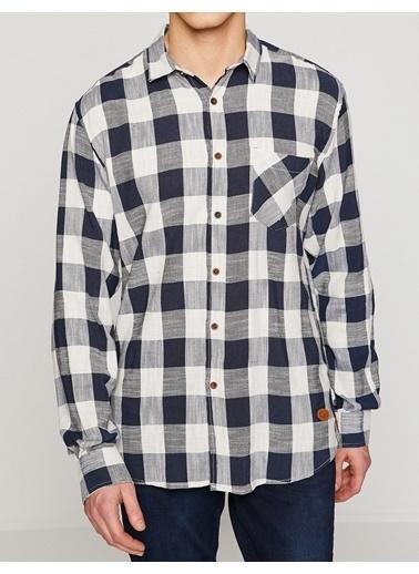 Kareli Uzun Kollu Gömlek-Koton